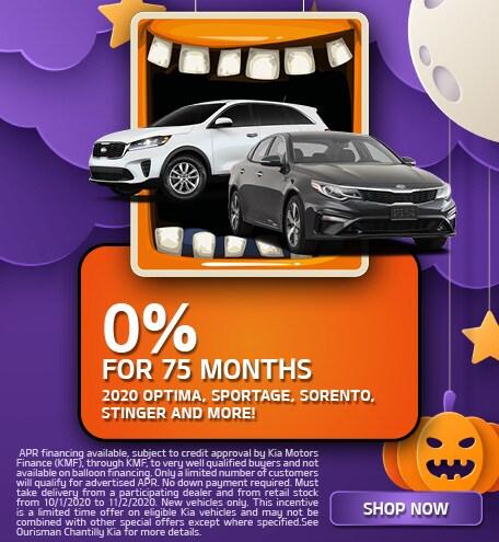 0% For 75 Months October
