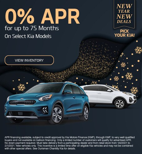 0% APR for up to 75 Months January