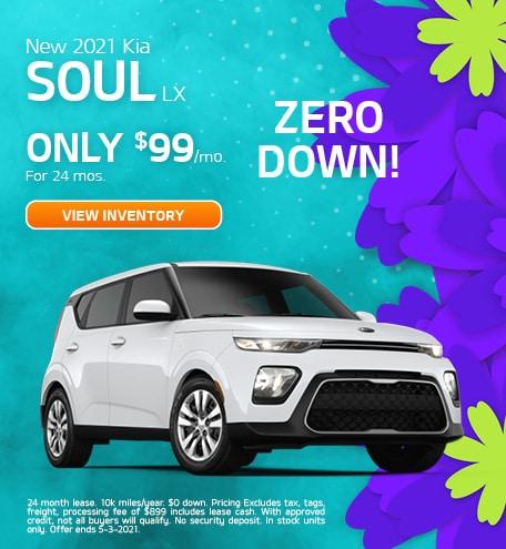 New 2021 Kia Soul LX April