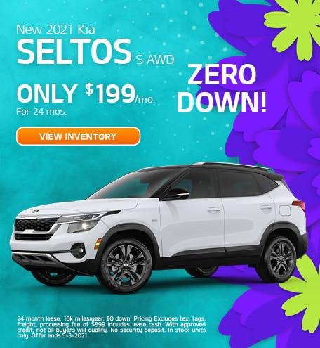 New 2021 Kia Seltos S AWD April