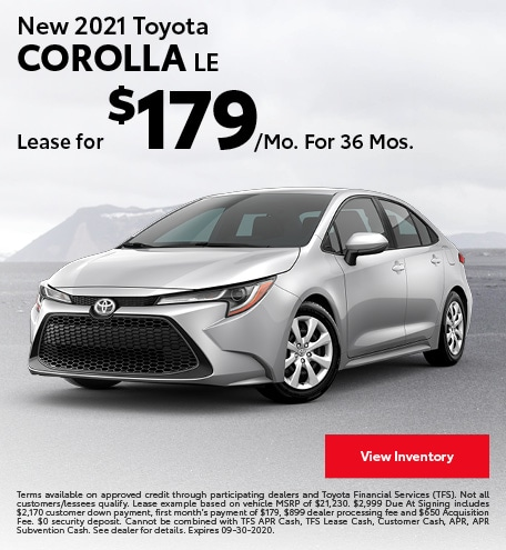New 2021 Toyota Corolla LE September