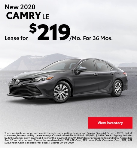 New 2020 Camry LE September