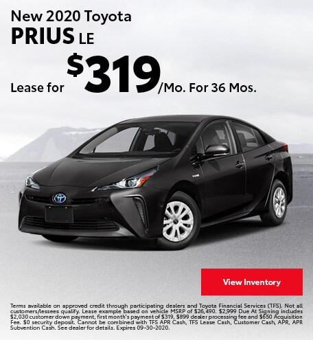 New 2020 Toyota Prius LE September