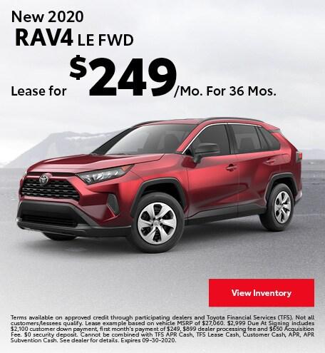 New 2020 RAV4 LE FWD September