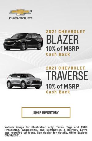 2021 Chevrolet Traverse & 2021 Chevrolet Blazer