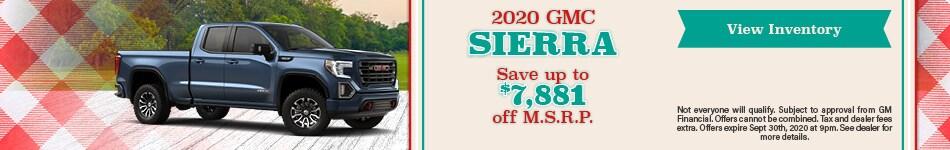 2020 GMC Sierra September