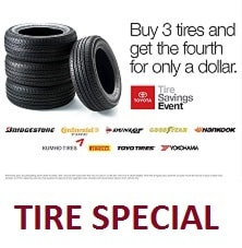 Buy 3 tires, get the 4th for $1.00