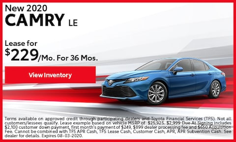 New 2020 Camry LE July