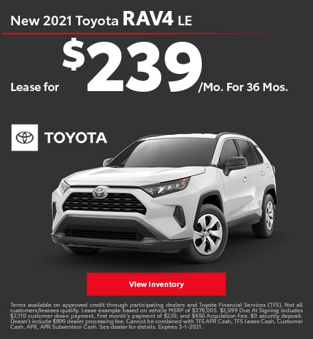 New 2021 Toyota RAV4 LE February