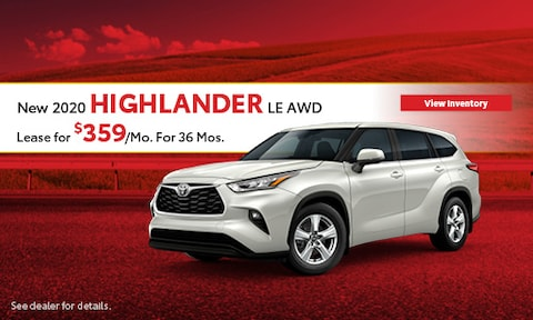 2020 Toyota Highlander LE - Lease