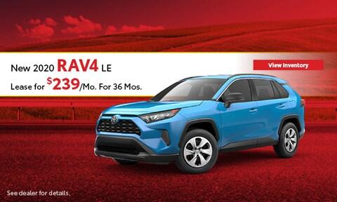 2020 Toyota RAV4 LE - Lease