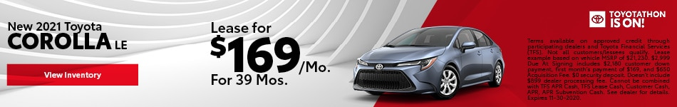 New 2021 Toyota Corolla LE November