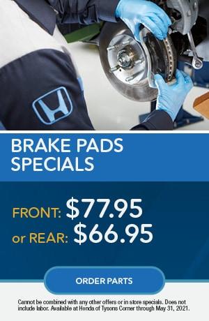 Brake Pads Specials
