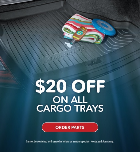 $20 OFF CARGO TRAYS