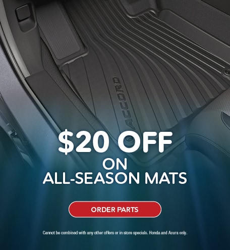 $20 OFF ALL-SEASON MATS