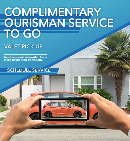 COMPLIMENTARY OURISMAN SERVICE TO GO VALET PICK-UP