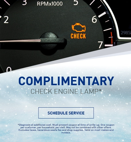 Complimentary Check Engine Lamp