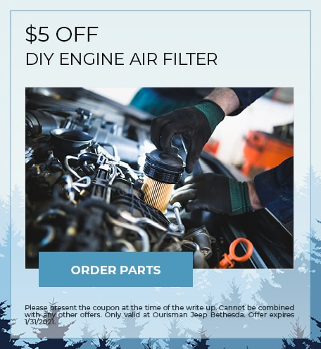 $5 OFF DIY ENGINE AIR FILTER - January Special