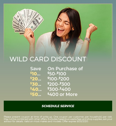Wild Card Discount - September Special
