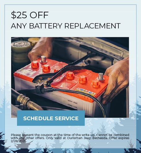$25 OFF ANY BATTERY REPLACEMENT - February Special