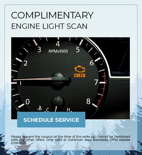 COMPLIMENTARY ENGINE LIGHT SCAN - February Special