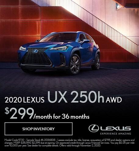2020 Lexus UX250h Lease