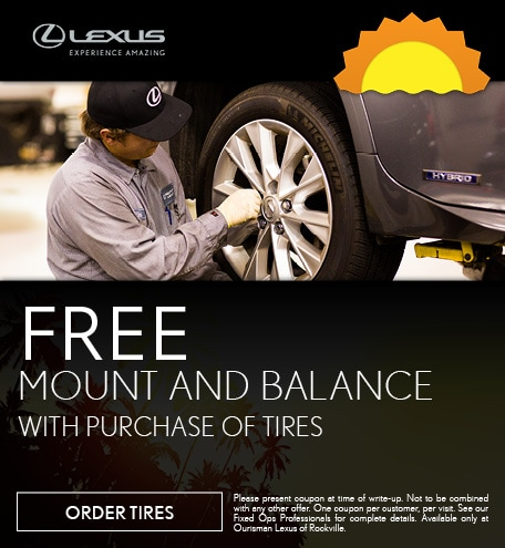 August   Free Mount & Balance w/ Tire Purchase