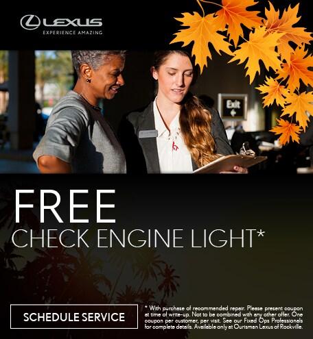 September | Free Check Engine Light