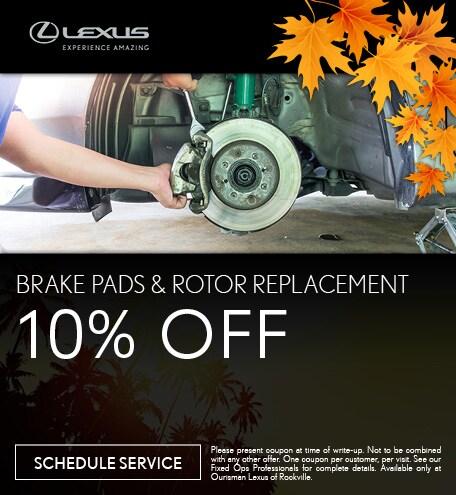 September | Brake Pad & Rotor Special