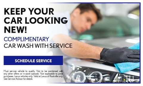 Complimentary Car Wash With Service