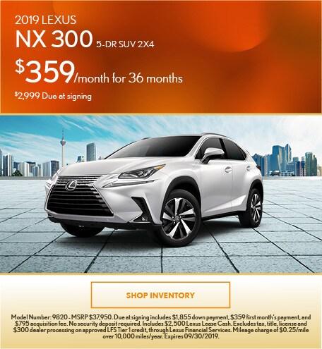 September | 2019 Lexus NX 300