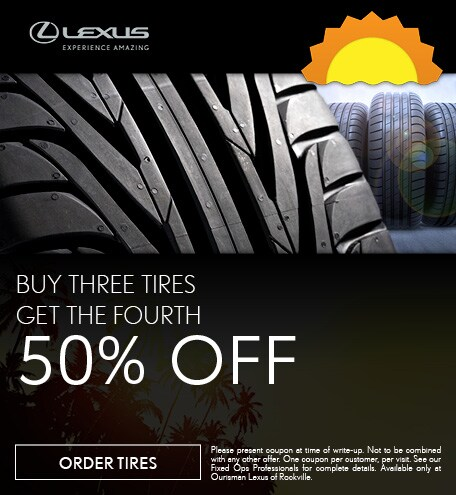 August   Buy 3 Tires Get the Fourth 50% Off