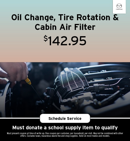 August   Oil Change, Tire Rotation & Cabin Air Filter
