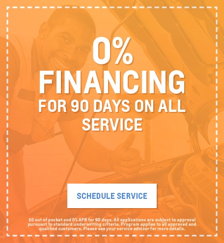 0% APR for 90 days on Service