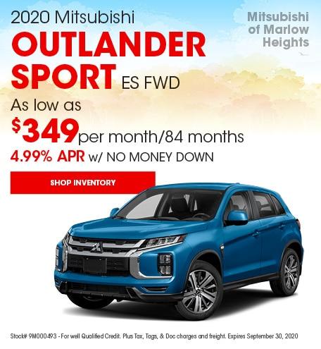 2020 Mitsubishi Outlander Sport ES FWD