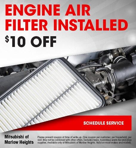 Engine Air Filter Installed