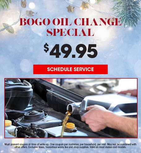 Bogo Oil Change Special