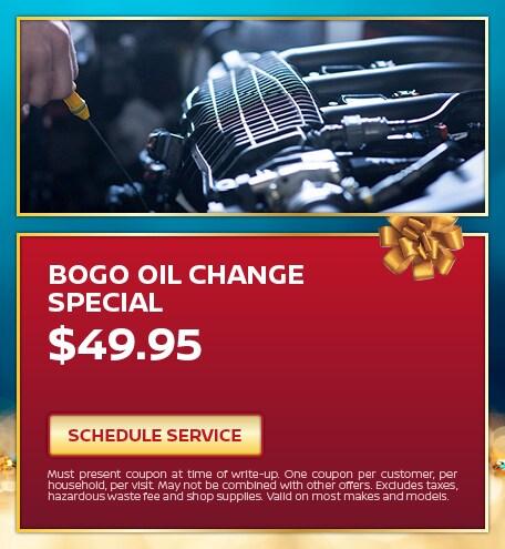 Bogo Oil Change Special