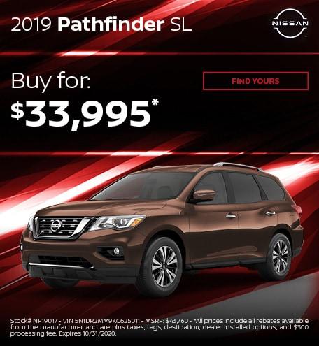 2019 Pathfinder SL