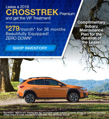 May | New 2019 Subaru Crosstrek