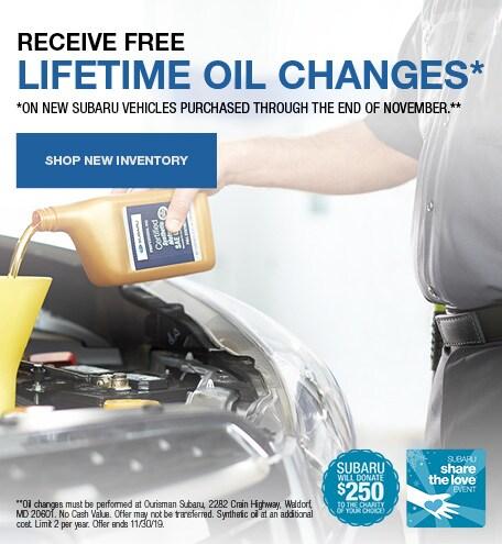 Lifetime Oil Changes