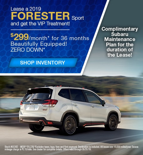 May | New 2019 Subaru Forester