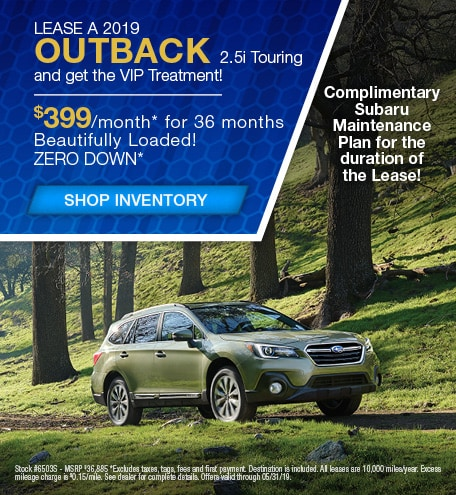 May | New 2019 Subaru Outback