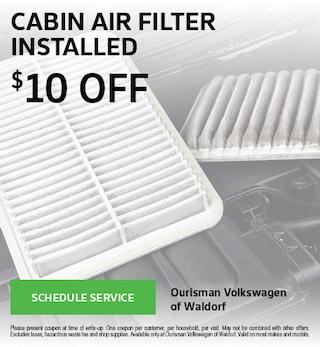 Cabin Air Filter Installed