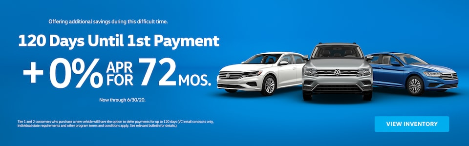 120 Days to 1st Month Payment!
