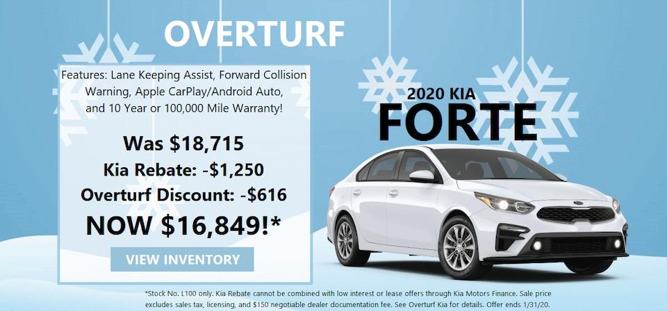 2020 Kia Forte Special Savings! (Stock No. L100)