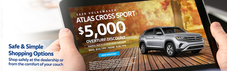 Save $5,000 Off MSRP on any new, in stock 2020 VW Atlas Cross Sport!