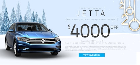 $4,000 Off MSRP any new, in stock 2019 VW Jetta