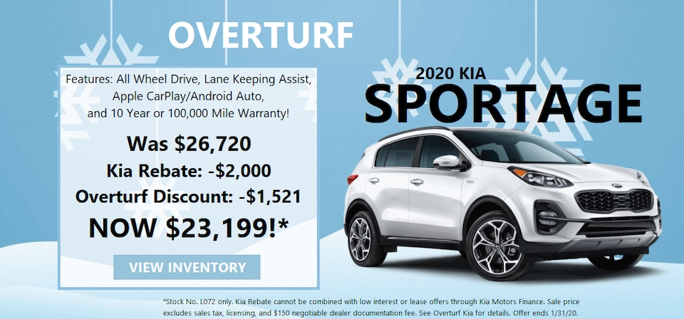 2020 Kia Sportage Savings!