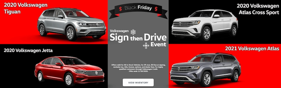 Black Friday Specials at Overturf Volkswagen!